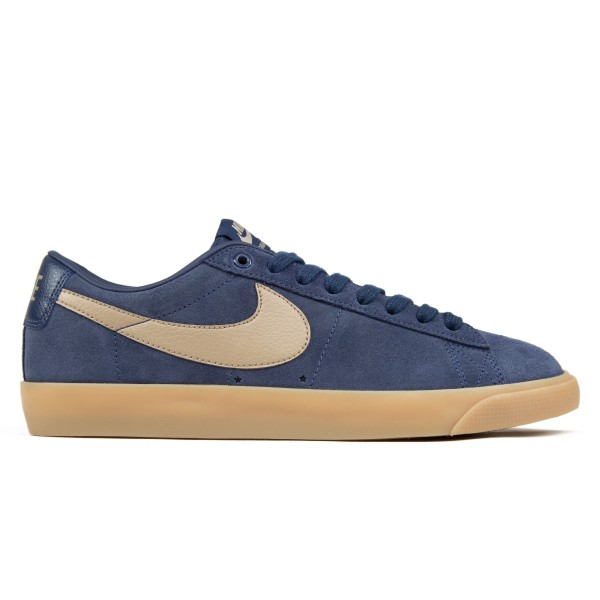 Nike SB Zoom Blazer Low GT (Midnight Navy/Khaki-Gum Light Brown)