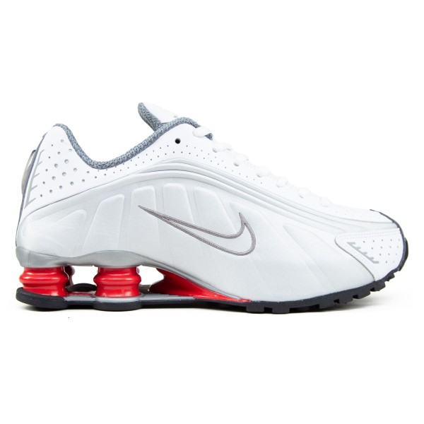 Nike Shox R4 'Comet Red' (White/Metallic Silver-Comet Red-Black)