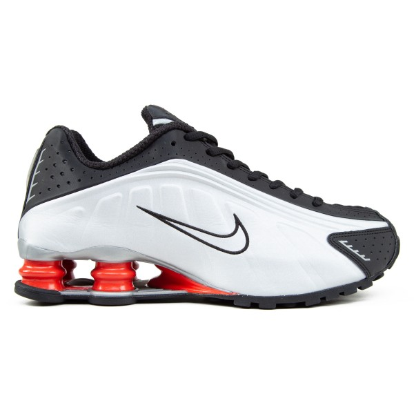 Nike Shox R4 OG (Black/Metallic Silver-Max Orange)