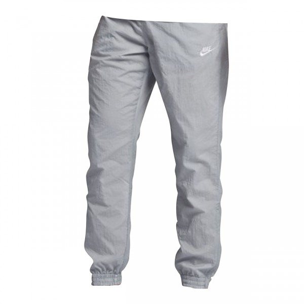 Nike Swoosh Woven Pant (Wolf Grey/White/Light Bone/White)