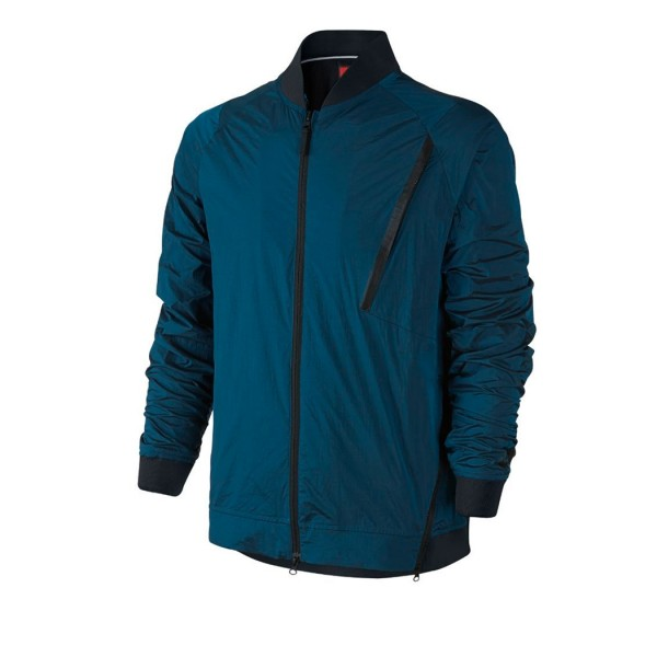 Nike Tech Hypermesh Varsity Jacket (Industrial Blue/Black)