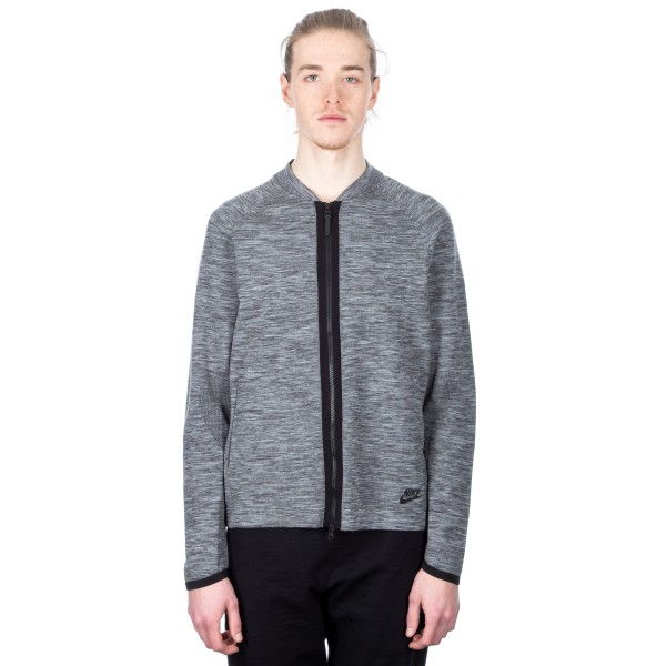 Nike Tech Knit Bomber Jacket (Dark Grey Heather)