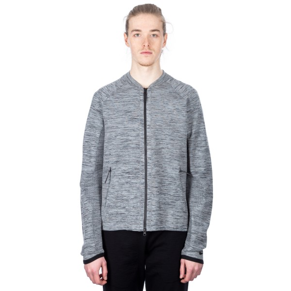 Nike Tech Knit Jacket (Carbon Heather/Black/Cool Grey/Black)