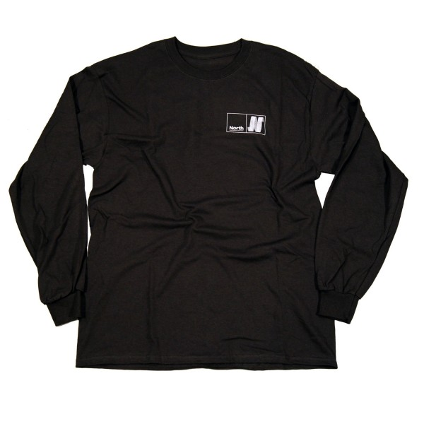 North N Logo Long Sleeve T-Shirt (Black/White)