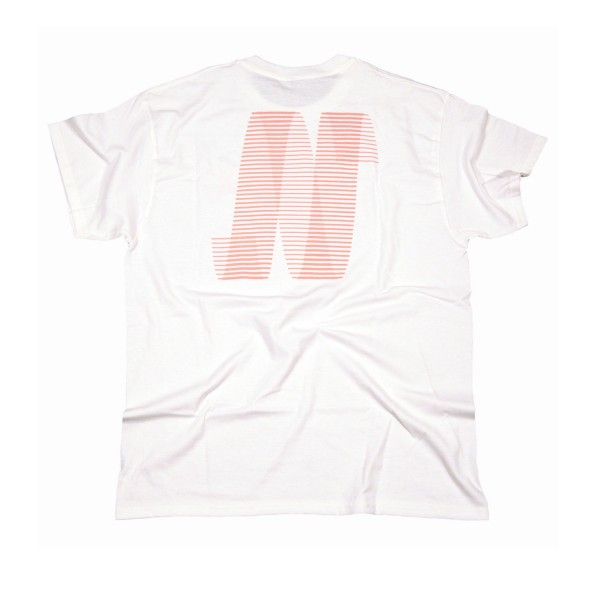 North N Logo T-Shirt (White/Peach)