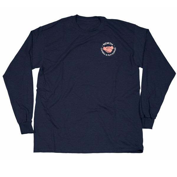 North Supplies Logo Long Sleeve T-Shirt (Navy/White/Peach)