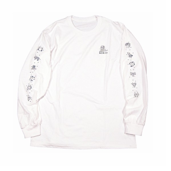 North Zodiac Long Sleeve T-Shirt (White/Black)