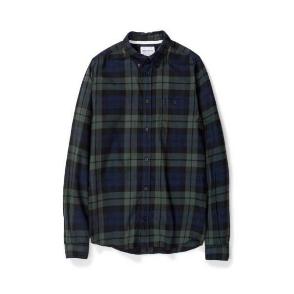 Norse Projects Anton Flannel Check Shirt (Black Watch Check)
