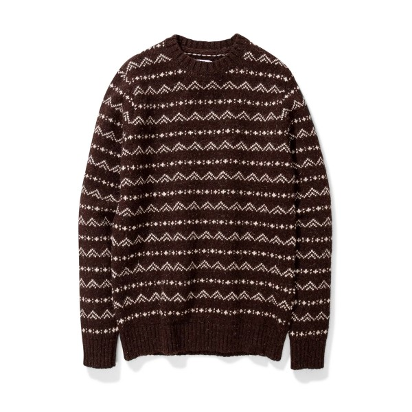 Norse Projects Arild Rough Fairisle Jumper (Black)