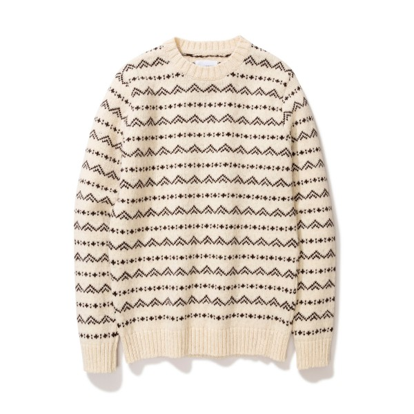 Norse Projects Arild Rough Fairisle Jumper (Ecru)