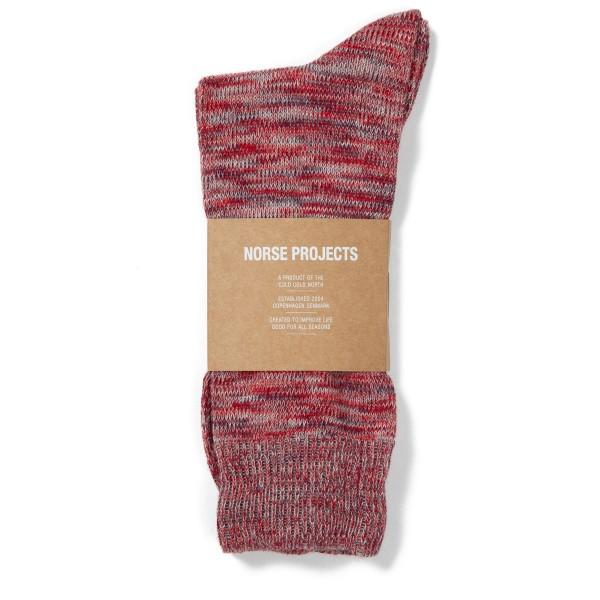 Norse Projects Bjarki Blend Socks (Askja Red)