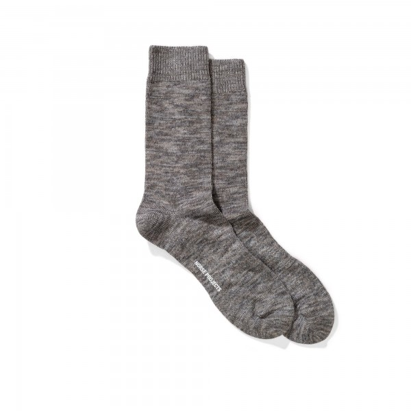 Norse Projects Bjarki Blend Socks (Charcoal Melange)