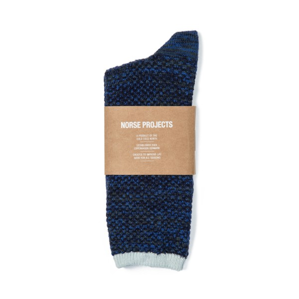 Norse Projects Bjarki Blend Socks (Cornflower Blue)