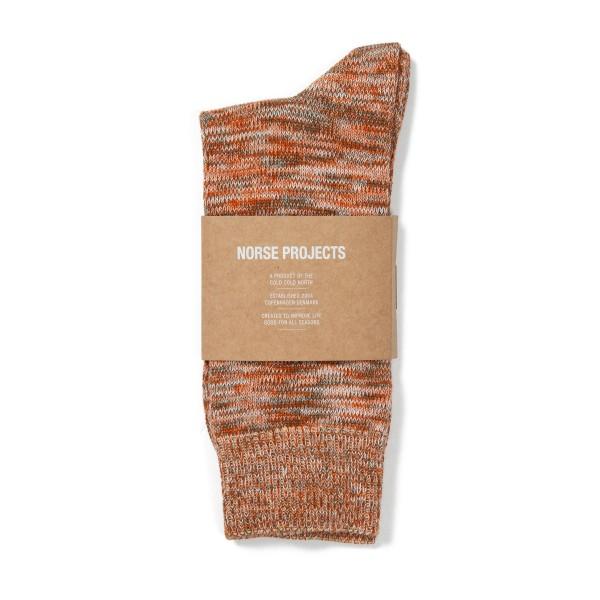 Norse Projects Bjarki Blend Socks (Oxide Orange)