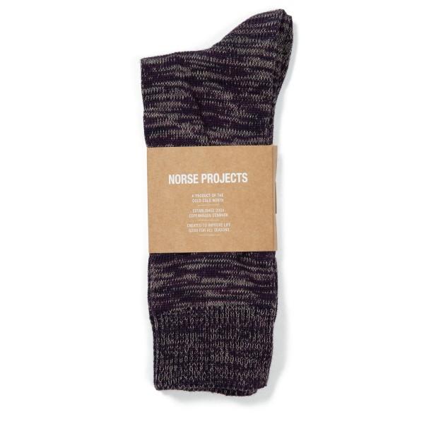 Norse Projects Bjarki Blend Socks (Ritteri Purple)