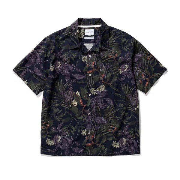 Norse Projects Carsten Print Shirt (Dark Navy)