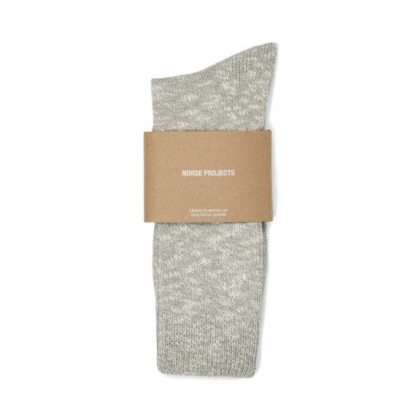 Norse Projects Ebbe Melange Rib Socks (Light Grey Melange)