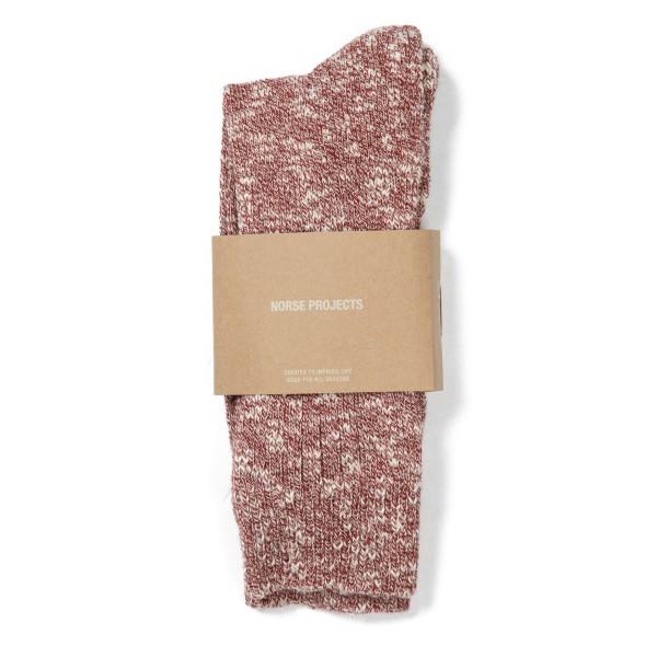 Norse Projects Ebbe Melange Socks (Cabin Red)