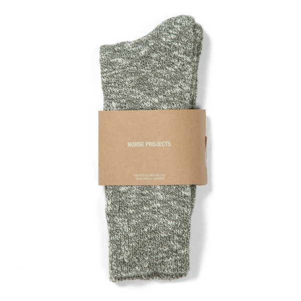 Norse Projects Ebbe Melange Socks (Ivy Green)