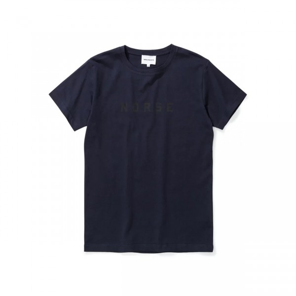 Norse Projects Essen Compact Logo T-Shirt (Dark Navy)