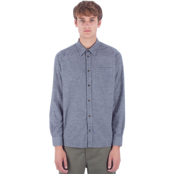 Norse Projects Hans Mouline Shirt (Light Grey Melange)