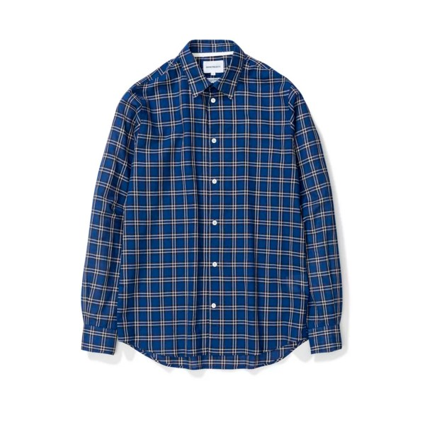 Norse Projects Hans Summer Check Shirt (Dark Navy)