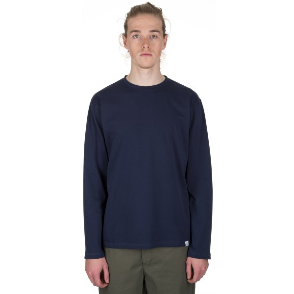 Norse Projects Johannes Organic Long Sleeve T-Shirt (Navy)