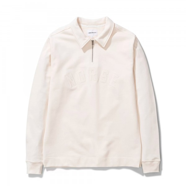 Norse Projects Jorn Half Zip Sweatshirt (Ecru)