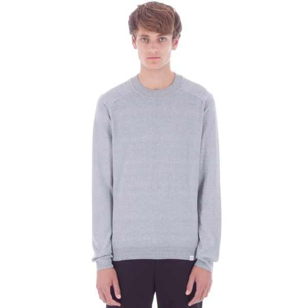 Norse Projects Karl Twisted Cotton Crew Neck Sweatshirt (Marginal Blue)