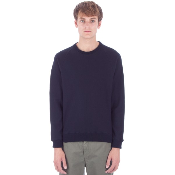 Norse Projects Ketel Wool Crew Neck Sweatshirt (Navy)