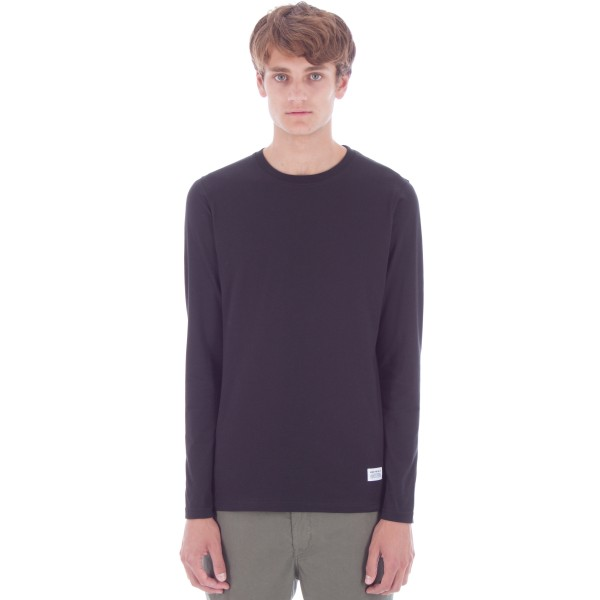 Norse Projects Niels Basic Long Sleeve T-Shirt (Black)