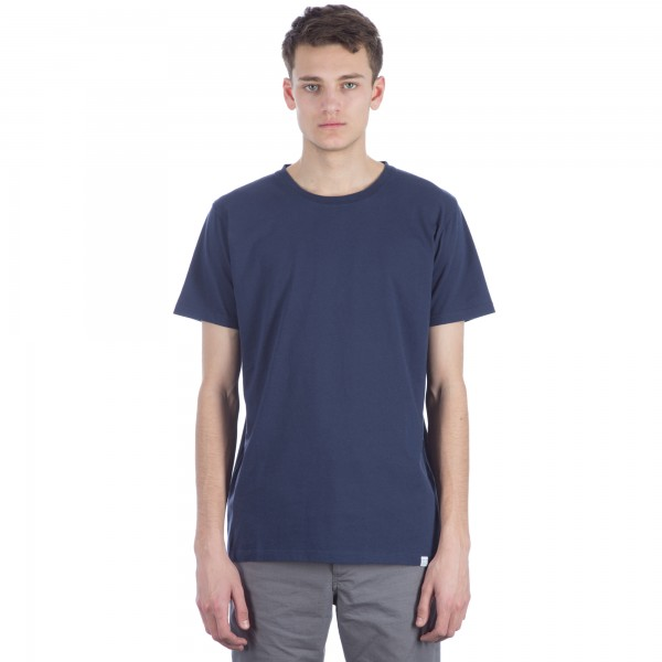 Norse Projects Niels Boucle T-Shirt (Navy)