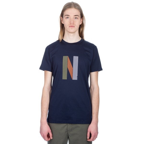 Norse Projects Niels Layer Logo T-Shirt (Dark Navy)