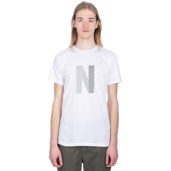 Norse Projects Niels Layer Logo T-Shirt (White)