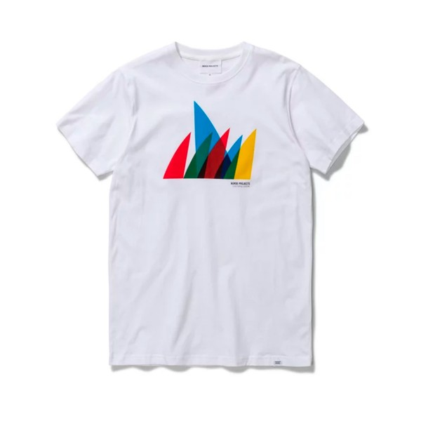 Norse Projects Niels Spinnaker Logo T-Shirt (White)
