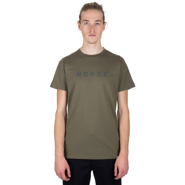 Norse Projects Niels Standard Logo T-Shirt (Lichen)