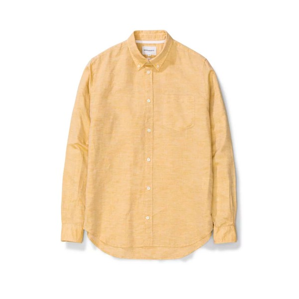 Norse Projects Osvald BD Cotton Linen Long Sleeve Shirt (Sunwashed Yellow)