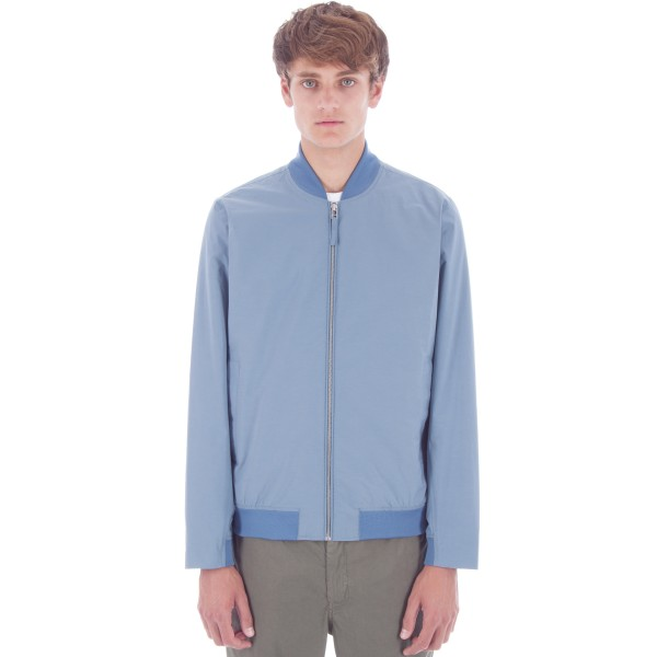 Norse Projects Ryan Crisp Cotton Bomber Jacket (Marginal Blue)