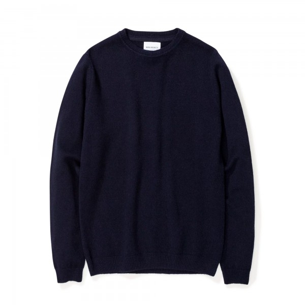 Norse Projects Sigfred Lambswool Jumper (Dark Navy)