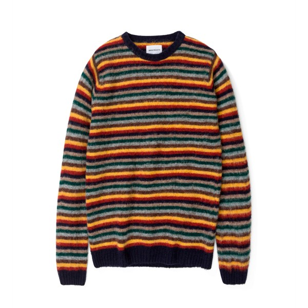 Norse Projects Sigfried Brushed Stripe Jumper (Multi Colour)