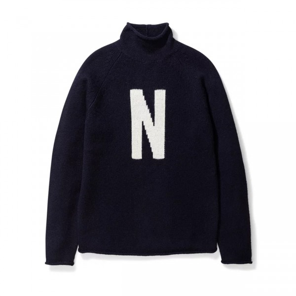 Norse Projects Thore N Intarsia Jumper (Dark Navy)