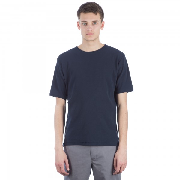 Norse Projects Thorvald Sport Waffle T-Shirt (Dark Navy)