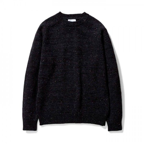 Norse Projects Viggo Crew Neck Neps Sweater (Charcoal Melange)