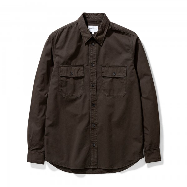 Norse Projects Villads Light Twill Shirt (Beech Green)