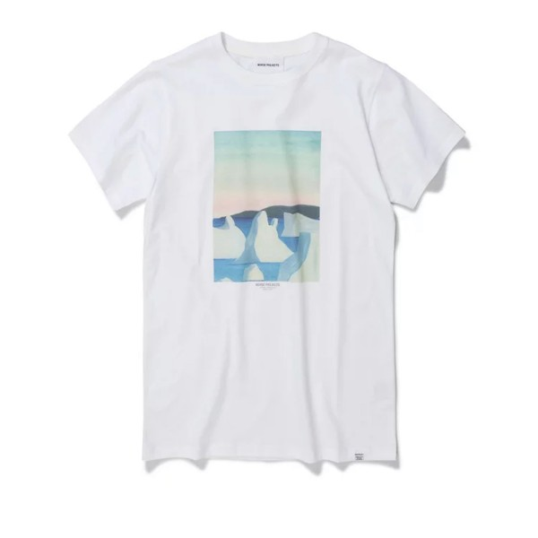 Norse Projects x Daniel Frost Icebergs T-Shirt (White)