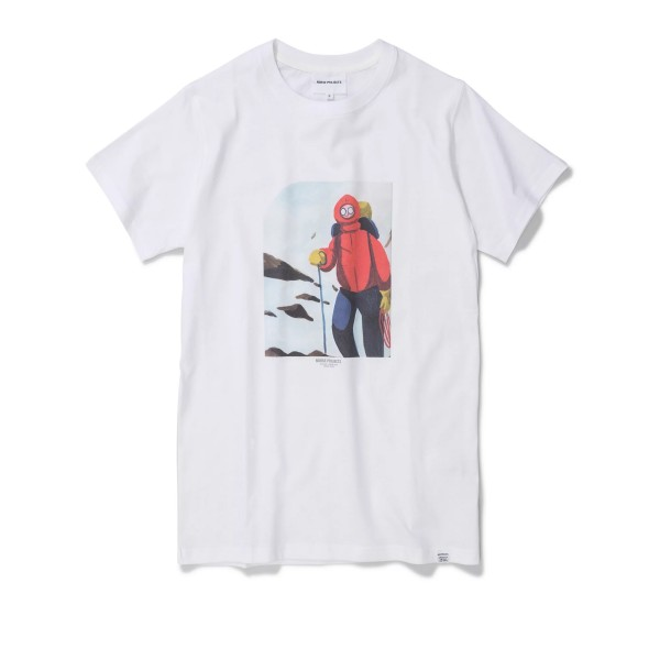 Norse Projects x Daniel Frost Mountaineer T-Shirt (White)
