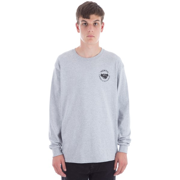 North Film Supplies Long Sleeve T-Shirt (Grey/Black)
