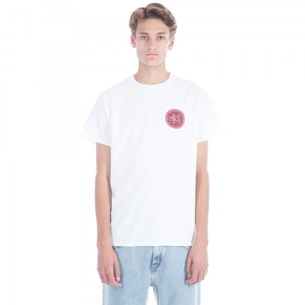 North Original Logo T-Shirt (White/Maroon)