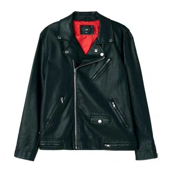 Obey Bastards PU Leather Jacket (Black)