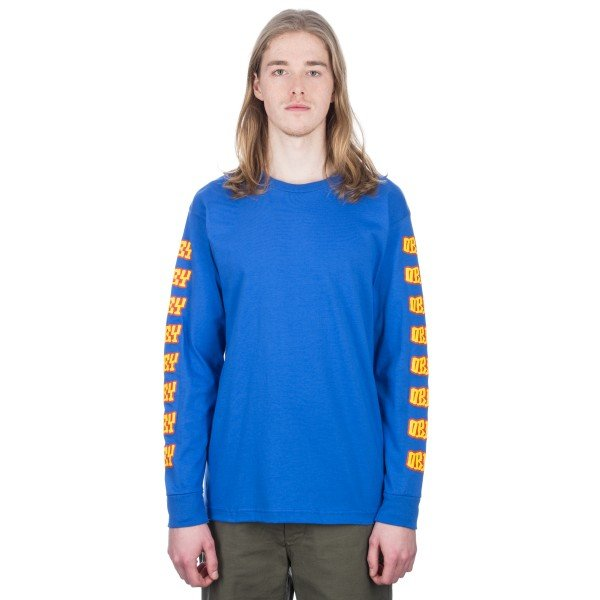 Obey Better Days Long Sleeve T-Shirt (Royal Blue)